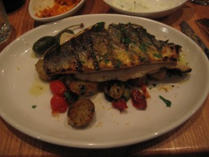Perfectly grilled branzino