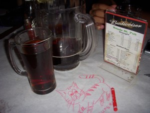 Cheap pitchers, cheap food, and crayons. What more can you ask for?