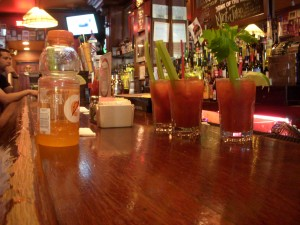 Hangover cures - bloody marys and gatorade