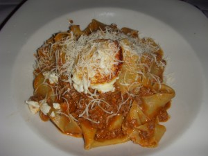 Papparedelle with lamb ragu and sheep's milk ricotta