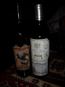A sangiovese and a rioja