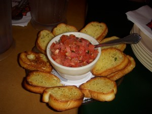 Fresh and garlicky bruschetta