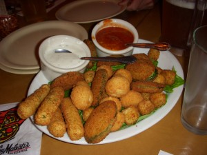 Crispy fried combination platter