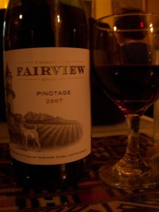 A delicious South African pinotage