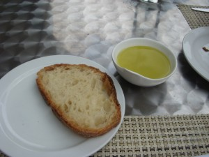 Good bread and even better olive oil