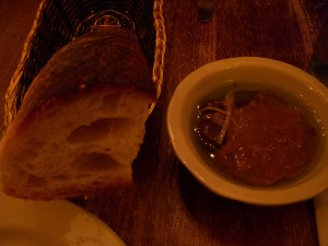 Bread and an olive oil dip