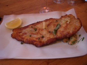 Chicken milanese with fingerling potatoes