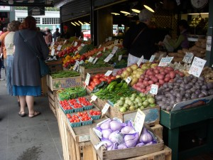 Fresh produce stall