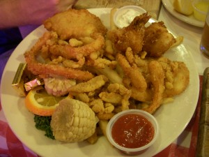 Captain's Combo of fried seafood