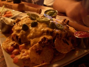 Chili and cheese nachos