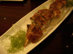 Anaconda roll (with shrimp tempura and eel)