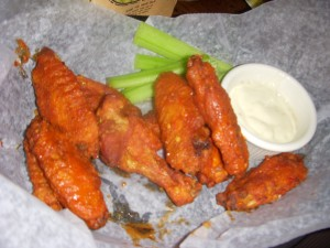 Tomato-y tasting buffalo wings