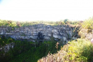 Huge pit crater, one of Los Gemelos