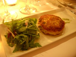 Crab and scallop cake