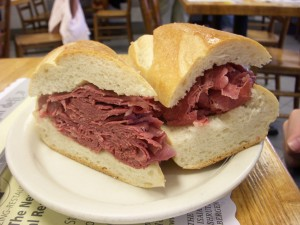 Corned beef on a club roll