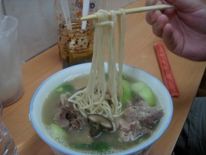 Yummy springy and toothsome noodles