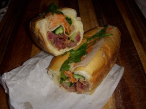 Banh mi innards - look at all the great layers of flavors!