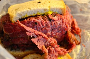 Smoked meat up close