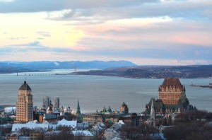 View of Quebec City at sunset