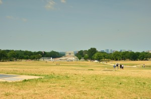 The Lincoln Memorial in the distance