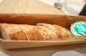 Delicious baguette and French butter