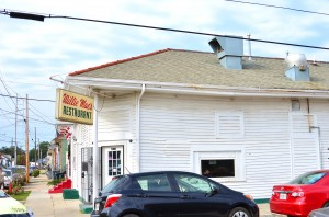 The unassuming white building that houses Willie Mae's