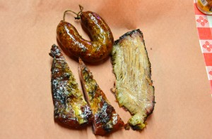 Assorted barbecued meats from Black's Barbecue