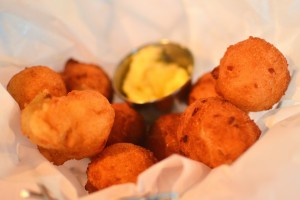 Basket of hush puppies