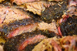 Brisket up close - look at the glorious bark