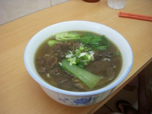 Noodle soup with beef brisket