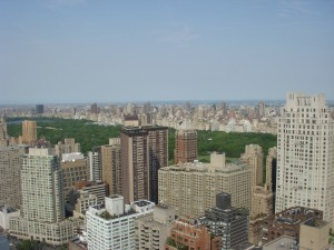 View of Central Park from our roof deck