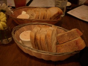 Lots of bread and strawberry butter