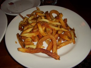 Deliciously hot and crispy frites