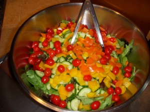 Huge colorful salad