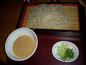 Cold seiro soba noodles