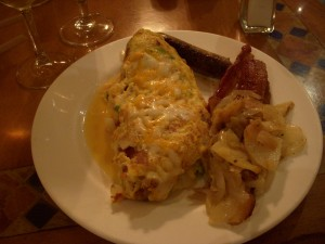 Crab and shrimp omelet