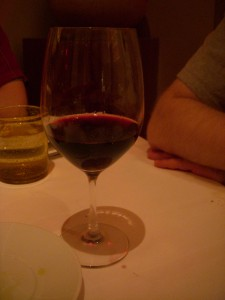 The offending glass of tempranillo