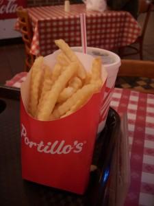 Crispy crinkle cut fries