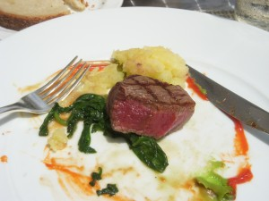 Perfectly cooked beef tenderloin