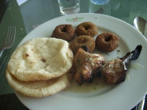Falafel donuts at the Carvery restaurant in Cairo