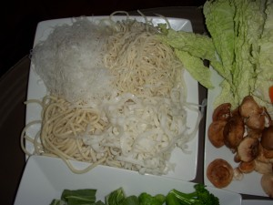 Four different kinds of noodles
