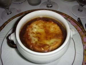 Onion soup au gratin