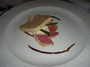 Foie gras terrine and smoked duck breast