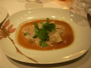 Braised veal and yukon gold potato ravioli