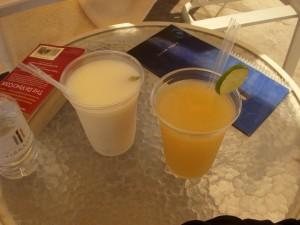 Pina colada and mango margarita