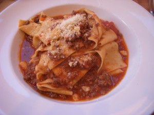 Pappardelle with beef ragu and rosemary