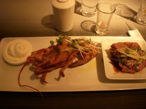 Lobster and wagyu beef