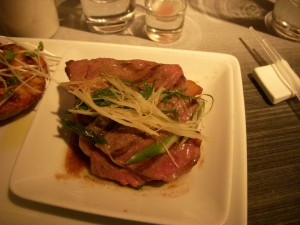 Wagyu beef with sweet scallion sauce