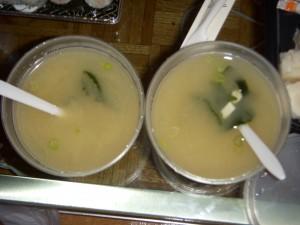 Lukewarm miso soups