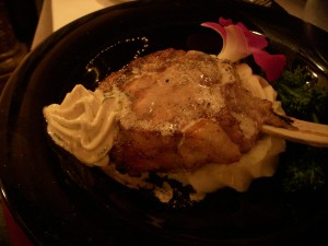 Veal chop with foie gras butter